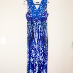 Apt. 9 Dresses - Apt. 9 Size Med Maxi Dress Blue Print